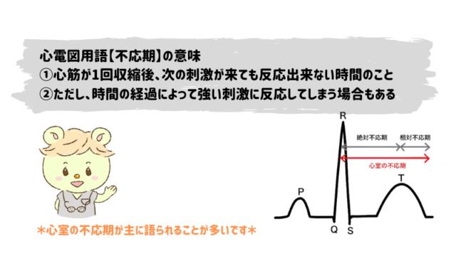 心電図用語【不応期】の意味